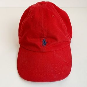 POLO BY RALPH LAUREN RED TODDLER HAT SIZE 2T-4T